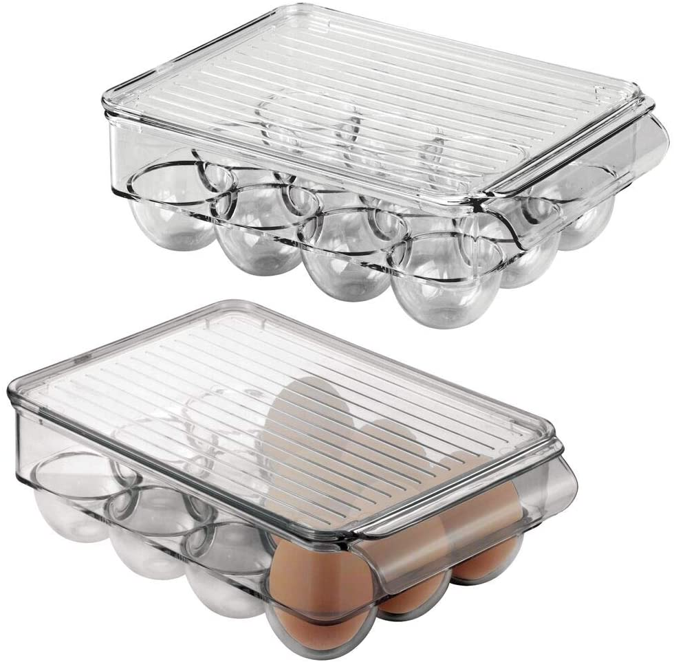 12 Eggs Stackable Plastic Covered Egg Tray