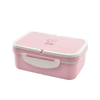 Wheat straw bento lunch box for kids and adults