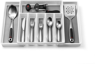 8-Compartments Expandable Silverware Tray