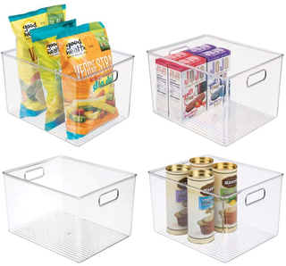 Plastic Storage Organizer Container Bins Holders with Handles