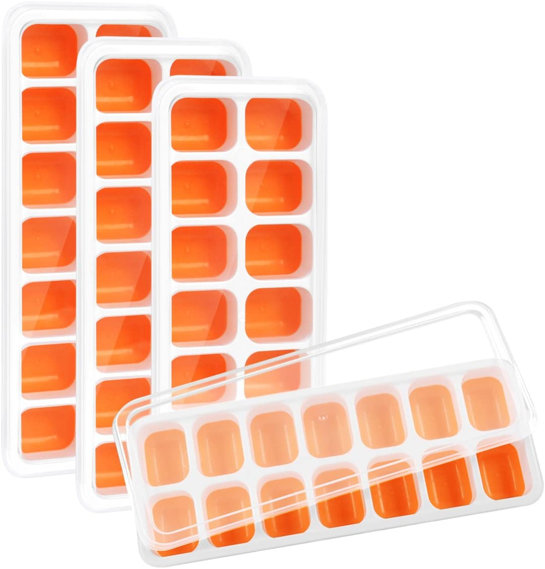 Release Silicone And Flexible Ice Cube Trays