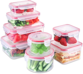 Food Storage Containers with Lids BPA Free Plastic Airtight Meal Prep Containers for Lunch