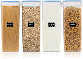 Plastic Kitchen Airtight Cereal Storage Container