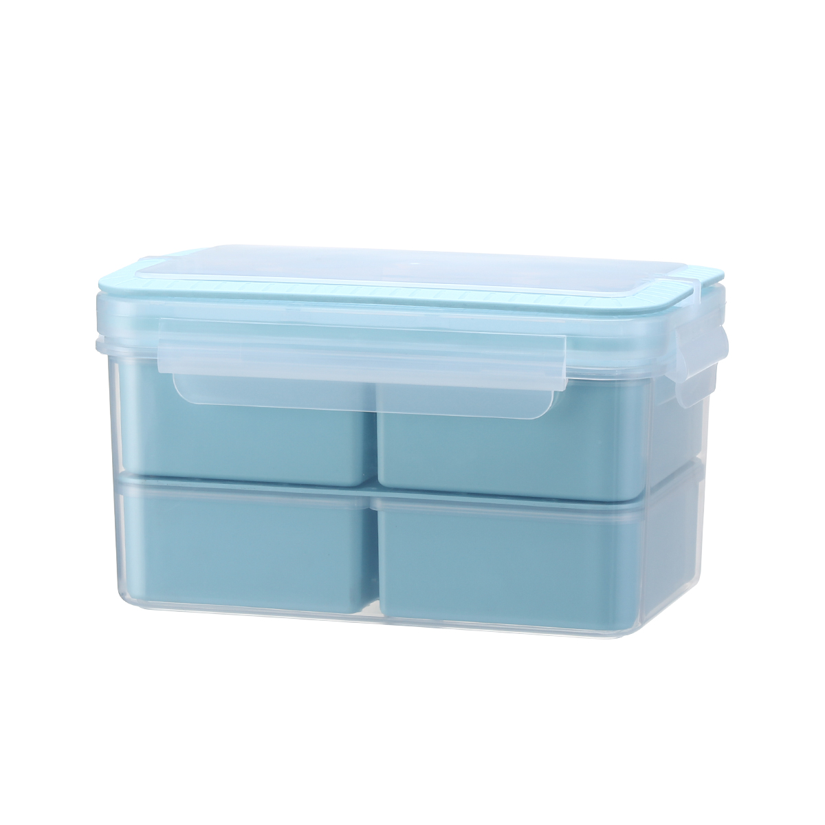 4 compartment lunch box, lunch box BPA free plastic