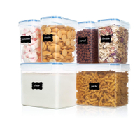 6 Piece Cereal Food Storage Containers