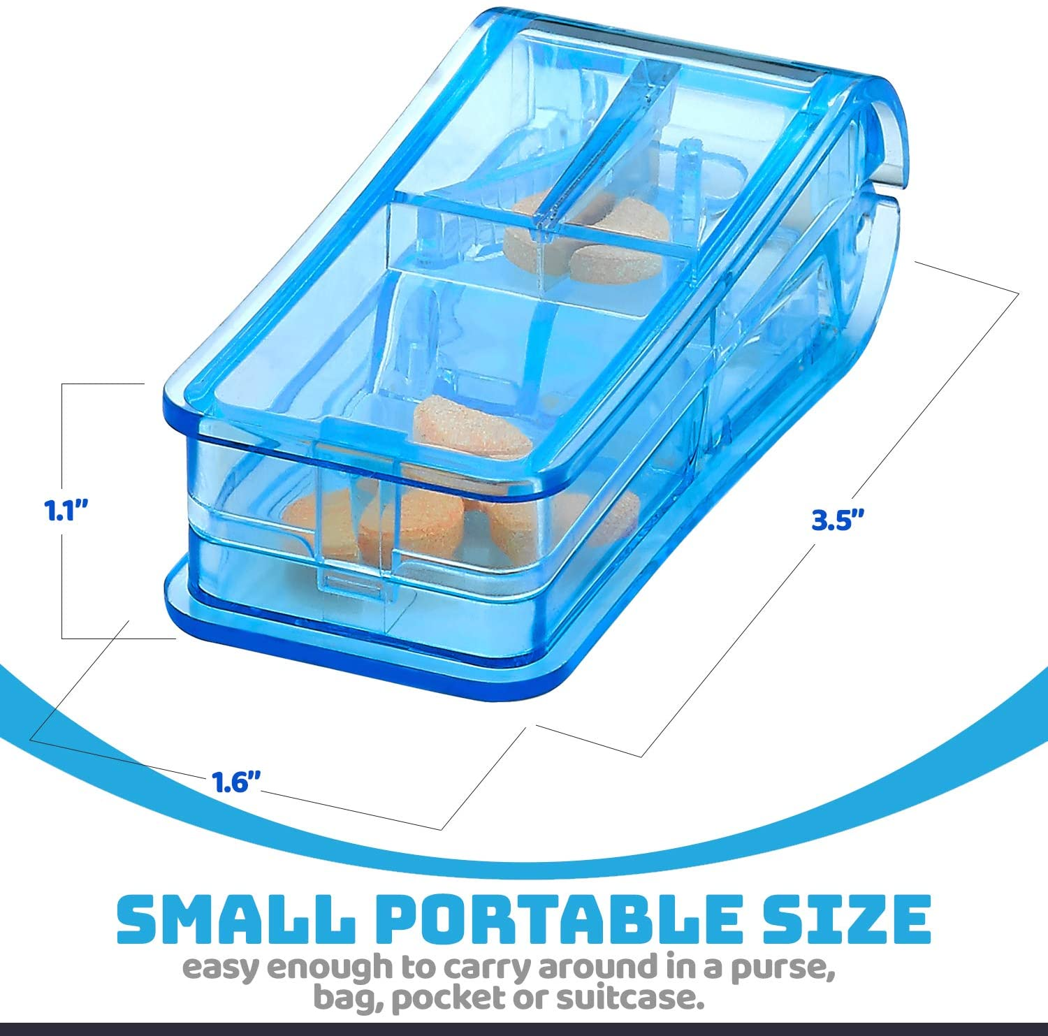 Portable Mini Transparent Pill Cutter Crusher