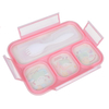 bento lunch box leakproof, 4 compartment lunch box kids