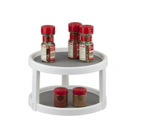 2 Tier Lazy Susan Turntable 360-degree Lazy Susan Organizer